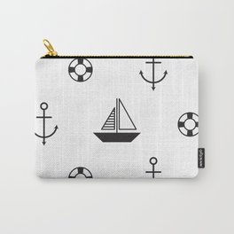 Funny sailboat with anchor Carry-All Pouch