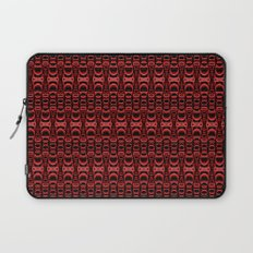 Dividers 07 in Red over Black Laptop Sleeve