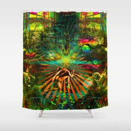 Forest Mind Expansion Shower Curtain