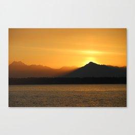 Smoky Sunset Canvas Print