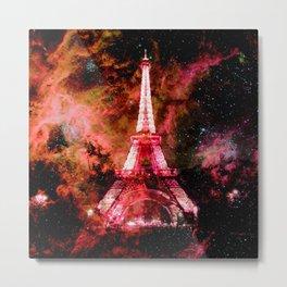 Paris Dreams Pink Orange Metal Print