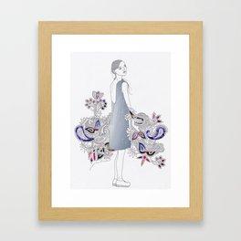 Paisley Party  Framed Art Print