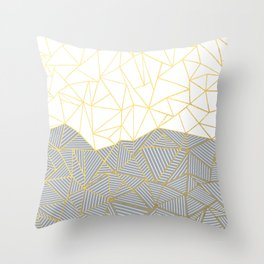 Ab Half and Half Grey Throw Pillow