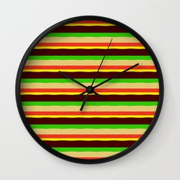 Burger Pattern Wall Clock