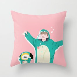 Dinosaur Chimmy (Pink Ver.) Throw Pillow