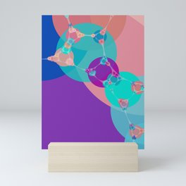 samantha - bright abstract royal blue magenta purple warm pink aquamarine Mini Art Print