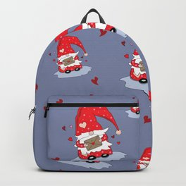 Cute Red Gnome with Love Letter Backpack