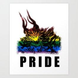 Gay Pride Demon Art Print