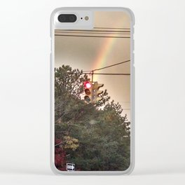 Red Yellow Green Clear iPhone Case