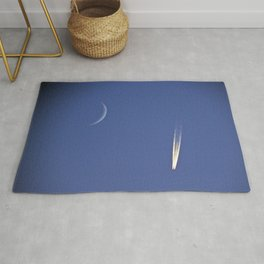 Moon and Jet in the Deep Blue Rug