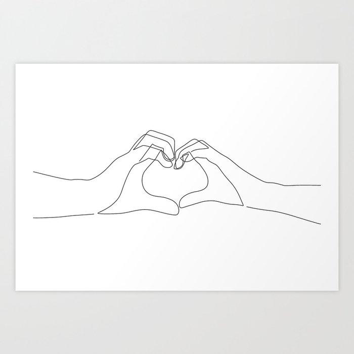 Hand Heart Kunstdrucke
