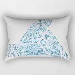 Tribal Ocean Blue Rectangular Pillow