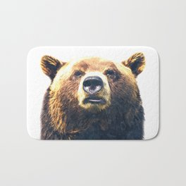 Bear portrait Bath Mat