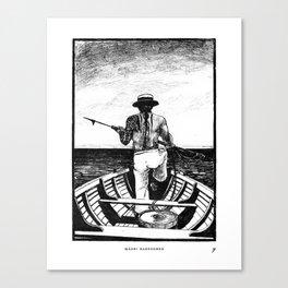 Māori Harpooner Canvas Print