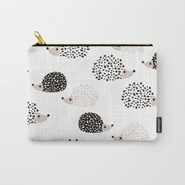 Hedgehog friends black and white spots Carry-All Pouch