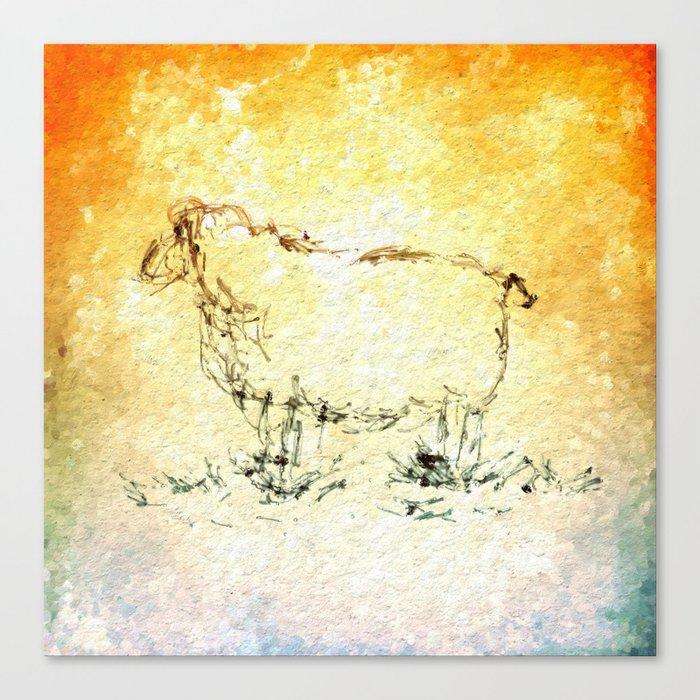 Draw Me A Sheep Canvas Print By Escrevendoesemeando Society6