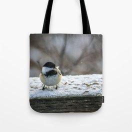 Hungry Little Chickadee Tote Bag