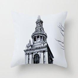 St. Mary-Le-Bow Church, London Throw Pillow