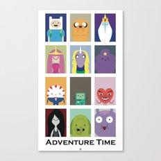 Minimalist Adventure Time Poster Canvas Print