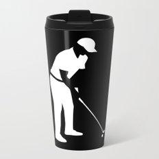 Golf player Metal Travel Mug