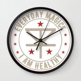 I Am Healthy activated magickal sigil tshirt gift Wall Clock