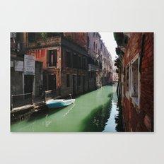Sunny canal Canvas Print