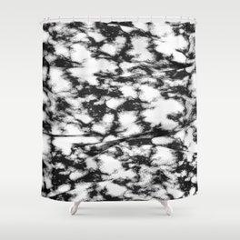 b&w spots Shower Curtain