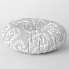 Mid Century Modern Atomic Radar Gray Floor Pillow