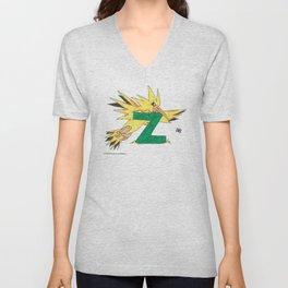 Z is for Zapdos Unisex V-Neck