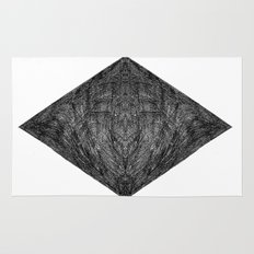 Graphite Diamond Rug