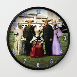 Cowtown Abbey Wall Clock