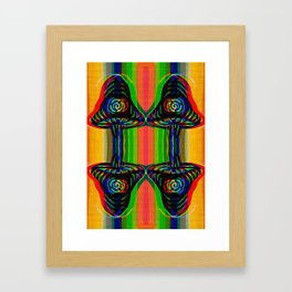 Shroom Spirals Framed Art Print