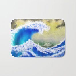 The GreatWave Interpretation Bath Mat