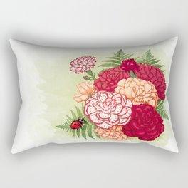 Full bloom | Ladybug carnation Rectangular Pillow