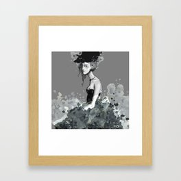 Lady in Lace Framed Art Print