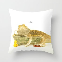 Bearded Dragon After... Throw Pillow