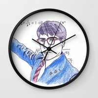 rushmore Wall Clocks featuring She's My Rushmore by nicoleskine