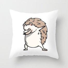 Funny Dabbing Hedgehog Pet Dab Dance Throw Pillow