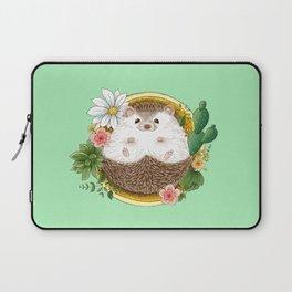 Hedgehog with cactus Laptop Sleeve