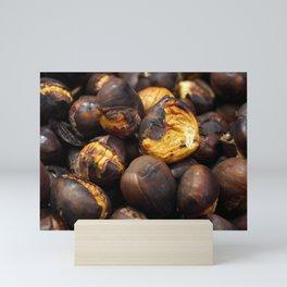 Food. Roasted chestnuts. Mini Art Print