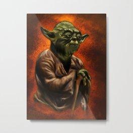 Master Jedi Yoda Metal Print