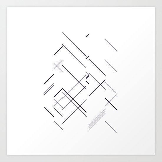 #417 Encounter – Geometry Daily Art Print