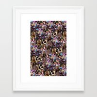clueless Framed Art Prints featuring clueless collage by zefpunk