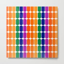 Rainbow Capsule Metal Print