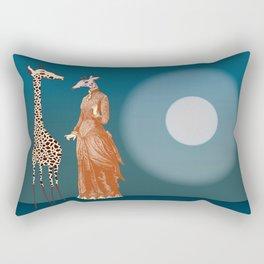 Giraffes - Late night rendezvous Rectangular Pillow