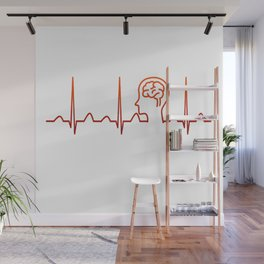 Neurologist Heartbeat Wall Mural