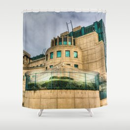 Secret Service Building London Shower Curtain