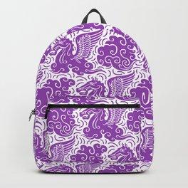 Pegasus Pattern Purple Backpack