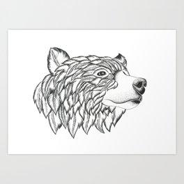 Feather Bear Art Print