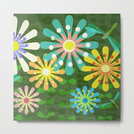 In The Garden Among The Flowers Metal Print